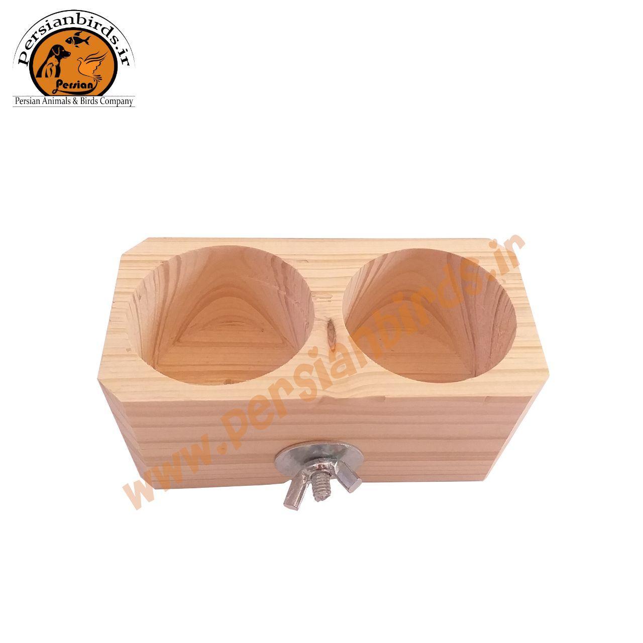 دانخوری چوبی دوقلو